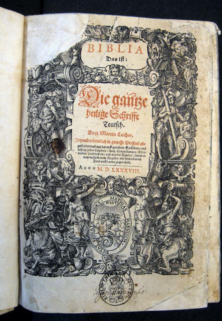 1588 - Die Neustadter Bibel mit den refomierten Kommentaren von David Pareus